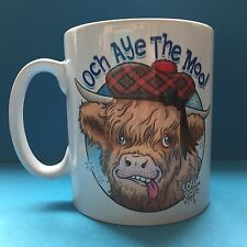 Och Aye The Moo Highland Cow Cartoon Mug