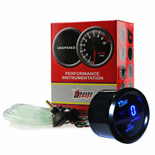 "Universal 2"" 52mm -15~45 PSI Digital LCD LED Boost Gauge Meter F. Car Motor Auto"