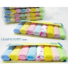 Best-chioce New 8Pcs/Pack Baby Face Washers Hand Towels Wipe Wash Cloth OZUS