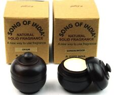 2 x 6g Wood Jars Song of India Natural Fragrant Solid Creme Perfume - Patchouli