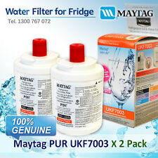 2 x GENUINE MAYTAG WHIRLPOOL FRIDGE WATER FILTER PART # UKF7003AXX
