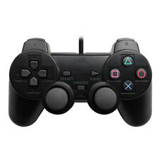 Simple New Black Gaming Controller For Playstation 2 PS2 Original Style