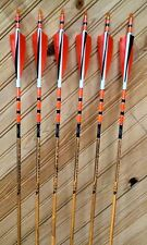 Black Eagle VINTAGE- Wood Grain Carbon Arrows 350 spine-6 Pack