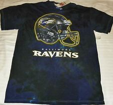 "NEW"" Baltimore Ravens ~ HELMET Logo Tye Dye Dyed SHIRT ~ NFL Adult Sz M Medium"
