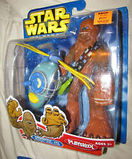Star Wars Playskool Jedi Force  CHEWBACCA w/Wookie Scout Flyer MIP 2004