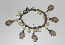 NEW DOLCE & GABBANA D&G DJ0259 GRAY/PEARL/CRYSTAL FASHIONABLE BRACELET LADIES !!