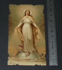 CHROMO 1920-1930 IMAGE PIEUSE CATHOLICISME HOLY CARD VIRGO IMMACULATA