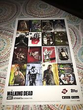 TOPPS AMC The Walking Dead UNCUT Card Trader Cards Wars Poster NYCC 2016 NEW