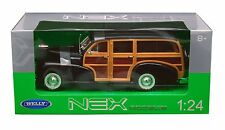 "Welly Chevy 1948 Fleetmaster 1:24 scale 8"" diecast model car Brown W119"