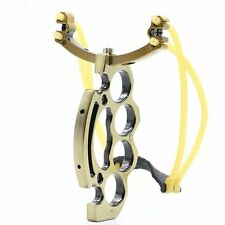 New Powerful Outdoor Slingshot  2 Rubber Bands High Velocity Hunting Catapult