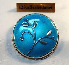 Jugendstil Emaile Brosche 800 Silber Emaille old silver enamel brooch / AW 353