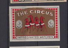 Ancienne  étiquette   allumettes  Belgique   AZ4102   Circus   Cheval 50
