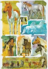 Chromo Le Suh Découpis Cheval 1977 Embossed Illustrations Horses