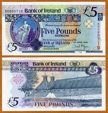 Bank of Ireland, Northern 5 pounds 2008, P-83, UNC