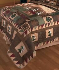 Big Pine Lodge Full/Queen Quilt Rustic Cabin Nature Designs Bed Bedroom Decor