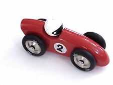 Vilac Competition Car Push and Pull Toy Red Large 7""