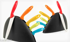 Color Splash 6-Piece Knife Set with Holder