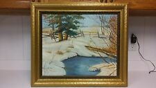 Antique landscape oil painting