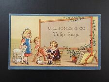 Vintage CL. Jones and CO. Tulip Soap  trading card
