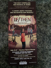 IF/THEN  the musical ad/flyer Boston July 5-17 2016