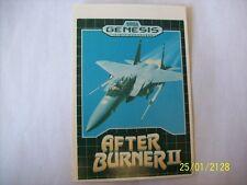 AFTER BURNER 2 Genesis Vidpro Card