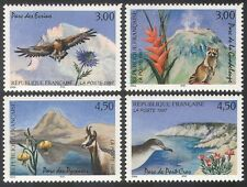 France 1997 Eagle/Shearwater/Chamois/Birds/Flowers/Nature/Wildlife 4v set n40681