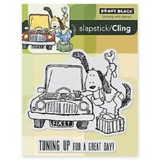 PENNY BLACK RUBBER STAMPS SLAPSTICK CLING TUNE UP STAMP