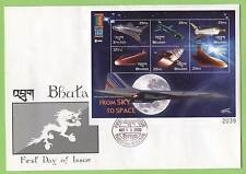 Bhutan 2000 Space miniature sheet on First Day Cover