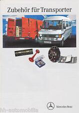 Prospekt Mercedes Zubehör Transporter 9 91 Autoprospekt Lkw Auto brochure 1991