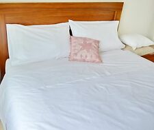 King Bed Sheet Set Egyptian Cotton White Fitted Flat Pcs Superfine Percale
