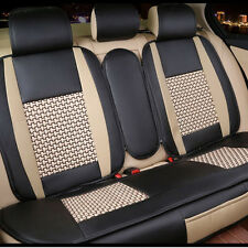 10pcs Set PU Leather Front Rear Car Seat Cushion Cover For Ford Five Seats Car