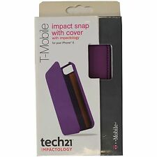 New Original Tech21 D30 Apple Iphone 5 5S Impact Snap Case With Cover PURPLE
