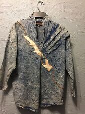 Marie St Monet Collection Denim shirt with appliqués and metal brads size6