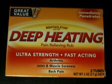Mentholatum Deep Heating Pain Relieving Rub 1 box of 2 tubes 2oz -- 4oz total
