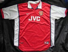 ARSENAL LONDON GUNNERS Home Shirt jersey NIKE 1998-1999 JVC adult SIZE  XXL