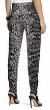 "BCBG NWT ""Alder"" Black Jacquard Leggings NEW XS $198 SYS2E996"