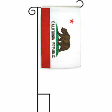 "12x18 12""x18"" State of California Sleeved w/ Garden Stand Flag"
