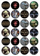 EDIBLE IMAGE-24 STAR WARS CUPCAKE TOPPERS