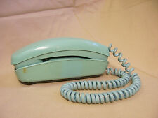 VINTAGE BELL SYSTEM WESTERN ELECTRIC TRIMLINE SEAFOAM GREEN ROTARY TELEPHONE