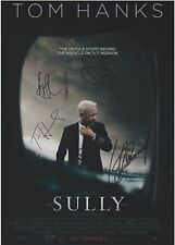 Sully (2016) Tom Hanks Clint Eastwood EXTREMELY RARE CAST (4) SIGNED RP 8x10!!!