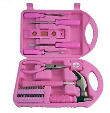 Pink Ladies Women Females 30-Piece Girls Tool Set with Carrying Case