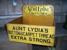 Aunt Lydia's Button & Carpet Thread Cabinet Store Display Antique Wood Box