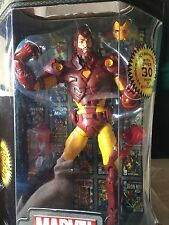 """IRON MAN 12 """" TOY BIZ MARVEL LEGENDS ICONS variant Face shows 2006 NEW"""