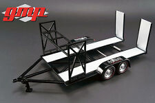 GMP tandem car trailer w Tire Rack Gas Monkey Garage 1:18 scale  model