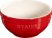 Staub Keramik 6 er Set Schale Schüssel Desertschale klein  kirsche 12 cm Ceramic