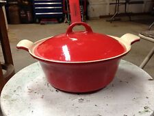 Griswold Red Cast Iron # 68 Dutch Oven Rare Enamel Casserole Dish With Lid