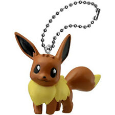 Pokemon Movie BW Eevee Ball Key Chain swing 2012 Pocket Monster Toy