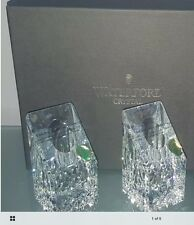"""GN) Waterford Crystal Lismore Essence 4"""" Candle Holders Candlesticks Pair Square"""