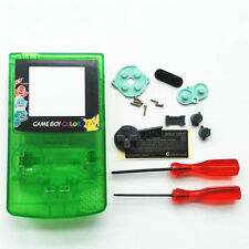 GBC Nintendo Game Boy Color Housing Shell Screen Clear Green Pikachu USA!