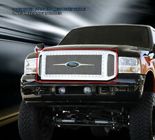 Fedar For 05-07 Ford F-250 F350 F450 F550 Stainless Rivet Mesh Grille Combo